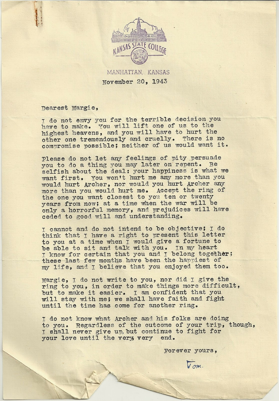 We're Not in Kansas Anymore: November 20, 1943: Persuasive Pity