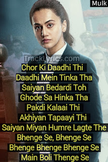 song-quotes-2018-thenge-se-for-pinterest-mulk-sunidhi-chauhan-rishi-kapoor-taapsee-pannu
