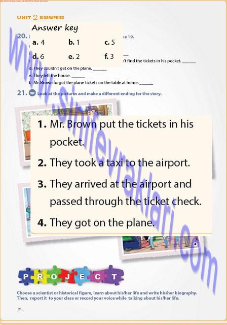 7. Sınıf İngilizce Ders Kitabı Cevapları Pantera Yayınları Sayfa 26