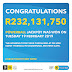 R232 million Powerball winner has still not come forward to claim the jackpot