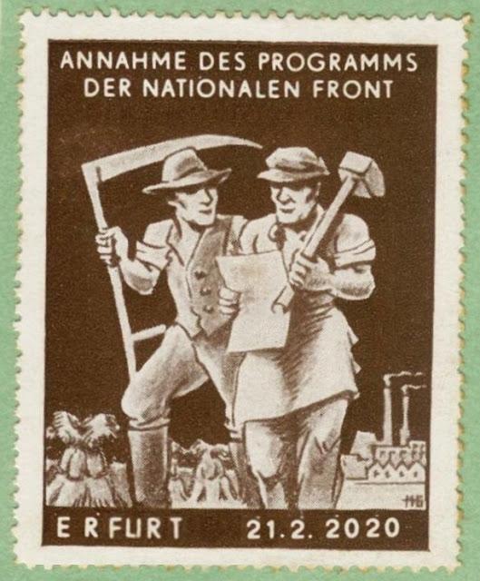 Briefmarke Einigung Thüringen