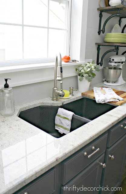 River White granite countertops