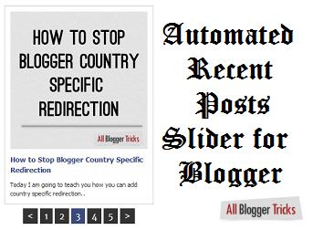 Blogger için Otomatik Son Gönderiler Kaydırıcısı