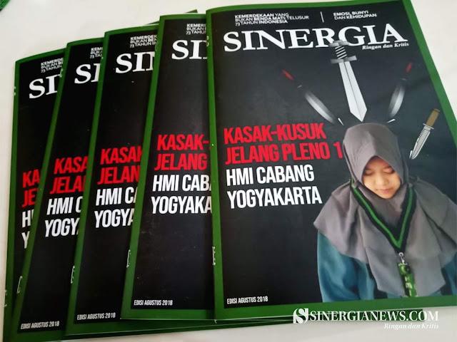 "Buletin Sinergia Edisi Agustus 2018 ""Kasak-kusuk Jelang Pleno 1 HMI Cabang Yogyakarta"""