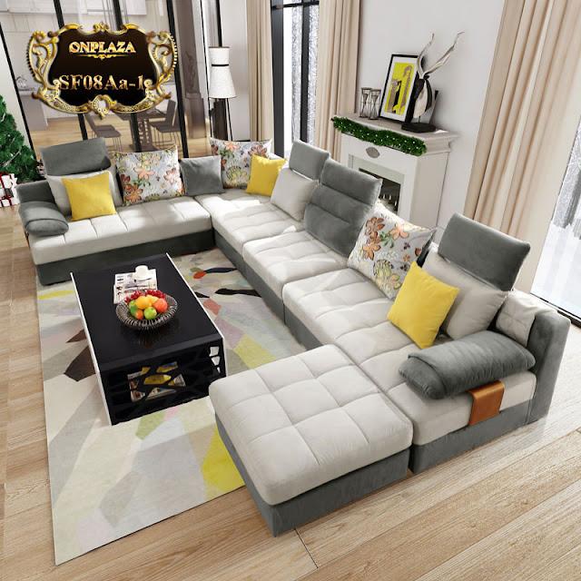 Bộ sofa bọc nhung góc chữ U thiết kế đẹp mắt SF08 : 24.752.000 vnđ