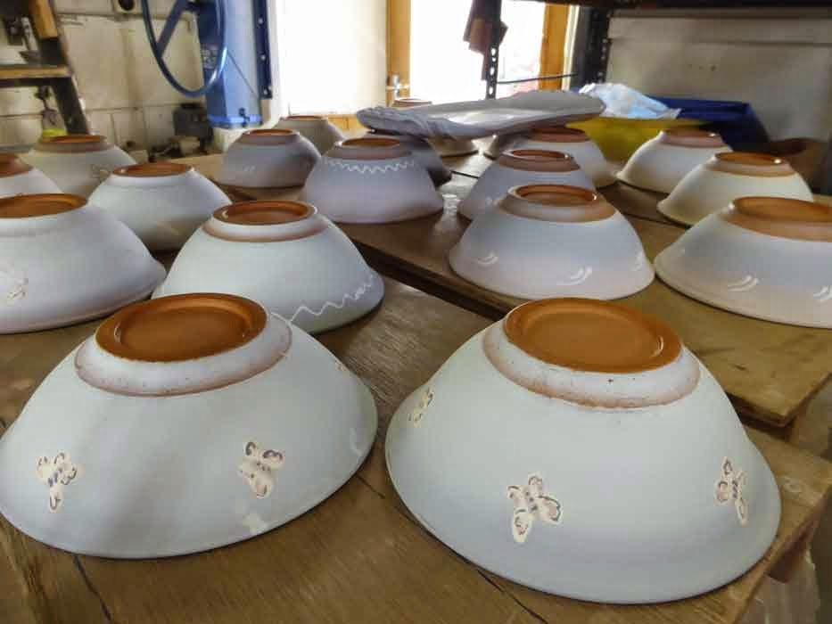 Barnbarroch Pottery: Lots to do and not everyone is helping