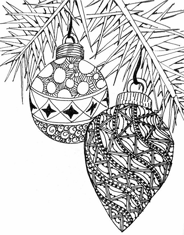 Serendipity: Adult Coloring pages: Seasonal: Winter/Christmas