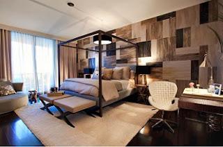 Dormitorio decorado colores tierra
