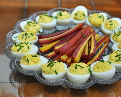 How to Make Estonian Deviled Eggs, with a single secret ingredient, butter. Low carb, just two Weight Watchers points. KitchenParade.com