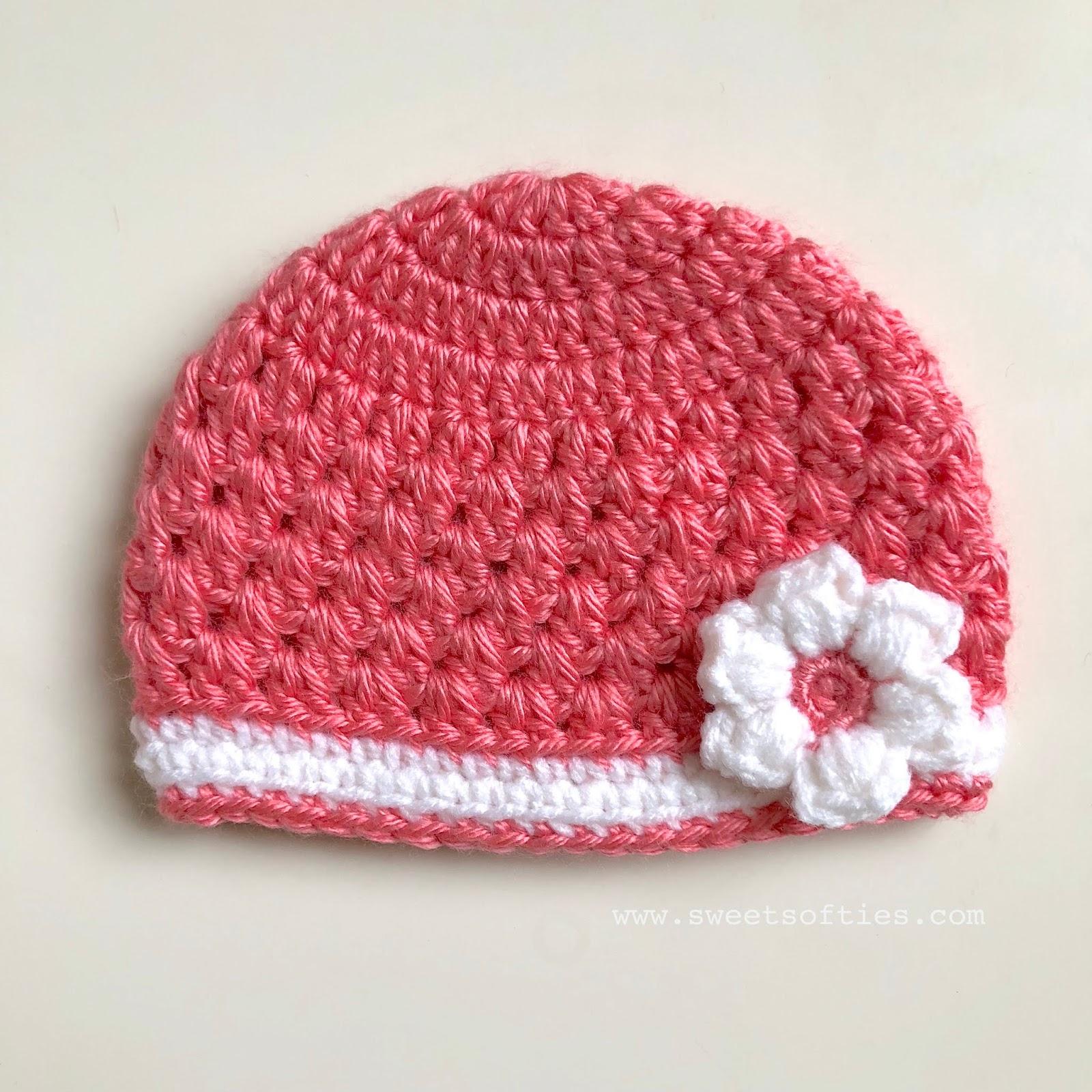 f71b17572 Baby's Lacy Springtime Beanie (Free Crochet Pattern) - Sweet Softies ...