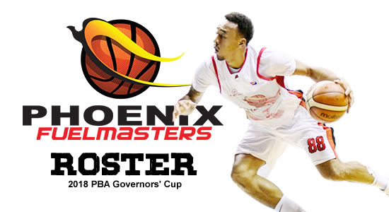 LIST: Phoenix Fuelmasters Roster 2018 PBA Governors' Cup