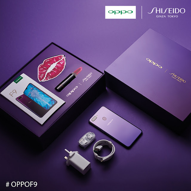 OPPO F9 X Shiseido Starry Purple Limited Edition Gift box will only be available at Lazada
