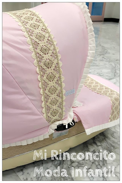 capota Bebecar IpOp personalizad en rosa