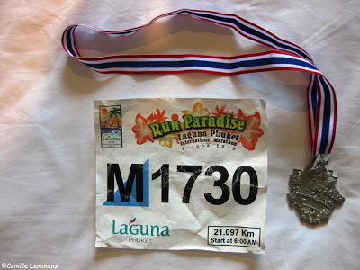 Laguna Phuket Half Marathon BIB and finishers medal