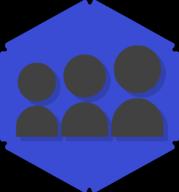 myspace hexagon icon