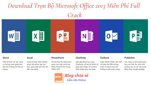 Download Microsoft Office 2013 miễn phí Full Crack mới nhất 2019