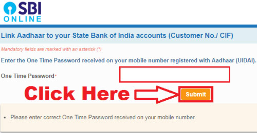 how to link aadhar card with sbi online