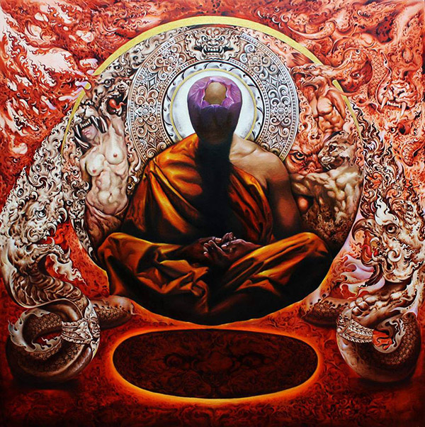 Nipon Jungkina นิพนธ์ จังกินา (Thailand) - Buddha art
