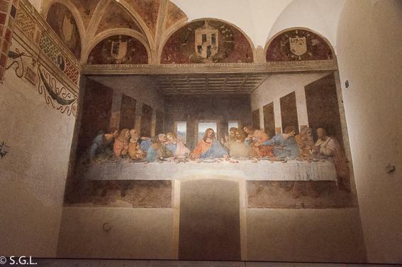 Fresco de la ultima cena de Leonardo Da Vinci. MIlan