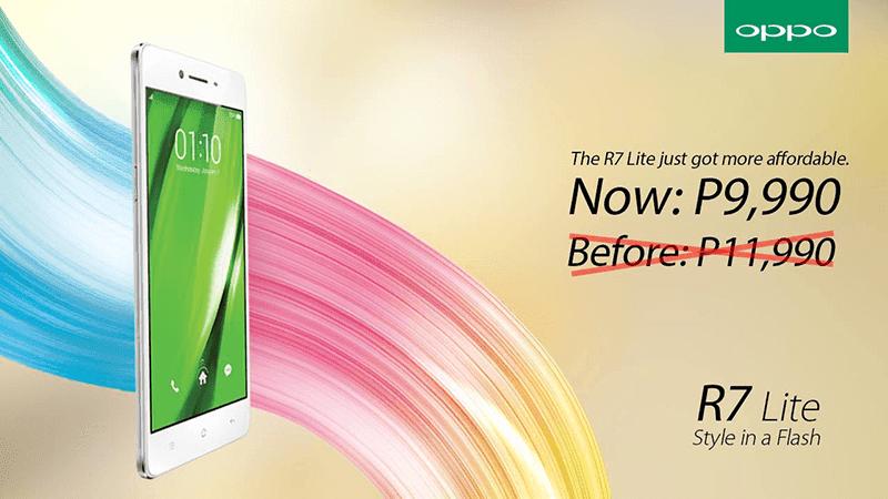 Oppo R7 Lite sale, down to 9,990 Pesos