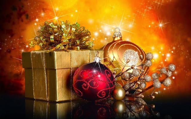 Papel de Parede Natal Presente e Enfeites para pc hd gratis Christmas balls and gifts hd wallpaper free