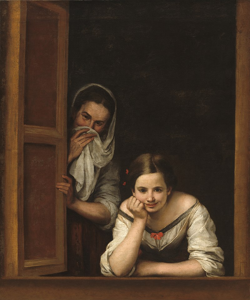 Two women at a window, c. 1655–60