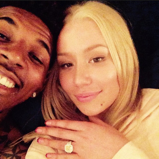 Iggy Azalea got engaged to basketball player Nick Young