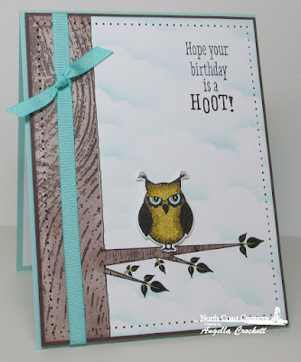 NCC Who Loves You?, NCC Custom Owl Family Dies, ODBD Wood Background, ODBD Custom Clouds and Raindrops Dies, Card Designer Angie Crockett