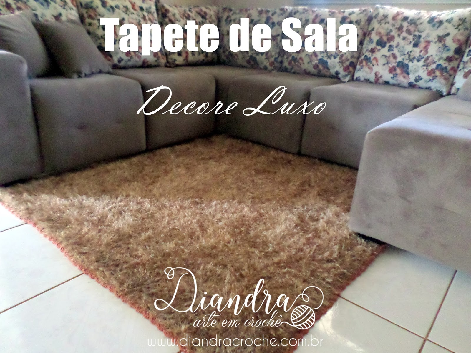 Diandra Arte Em Croch Tapete De Sala Decore Luxo
