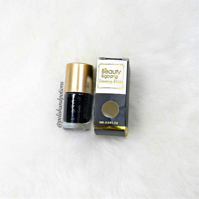 Beauty Bigbang black stamping polish 002