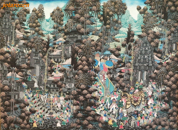Footsteps - Jotaro' Travels Indonesia Balinese Art