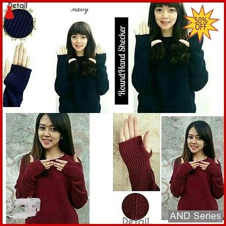 AND080 Baju Atasan Wanita Blouse Roundhand Rajut BMGShop