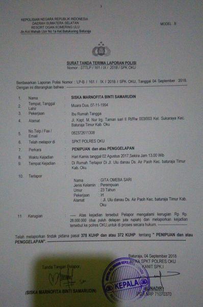 Tertipu Dengan Modus Arisan Online Warga Baturaja Ini Lapor Ke Polisi Berita Lampung Beritaonline Berita Lampung Barat Kejarfakta Com