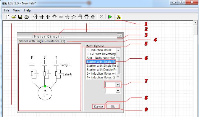 Software ESS sendiri memiliki beberapa Library rangkaian motor
