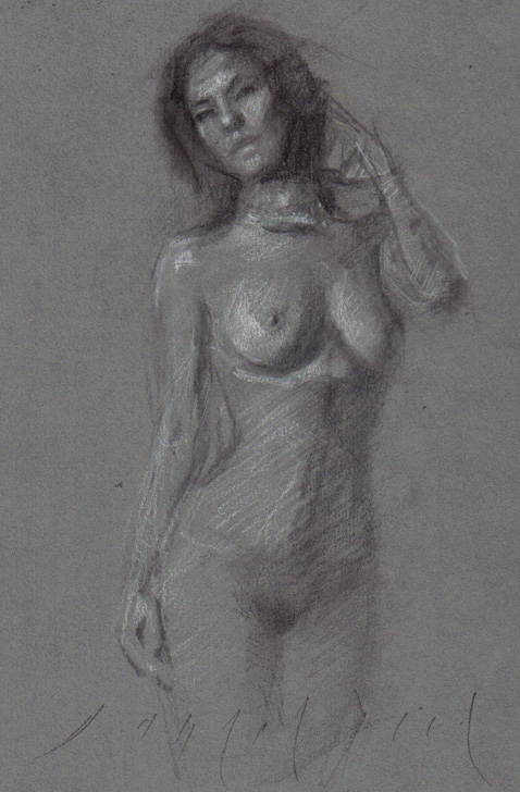 studies nude Asian female posture