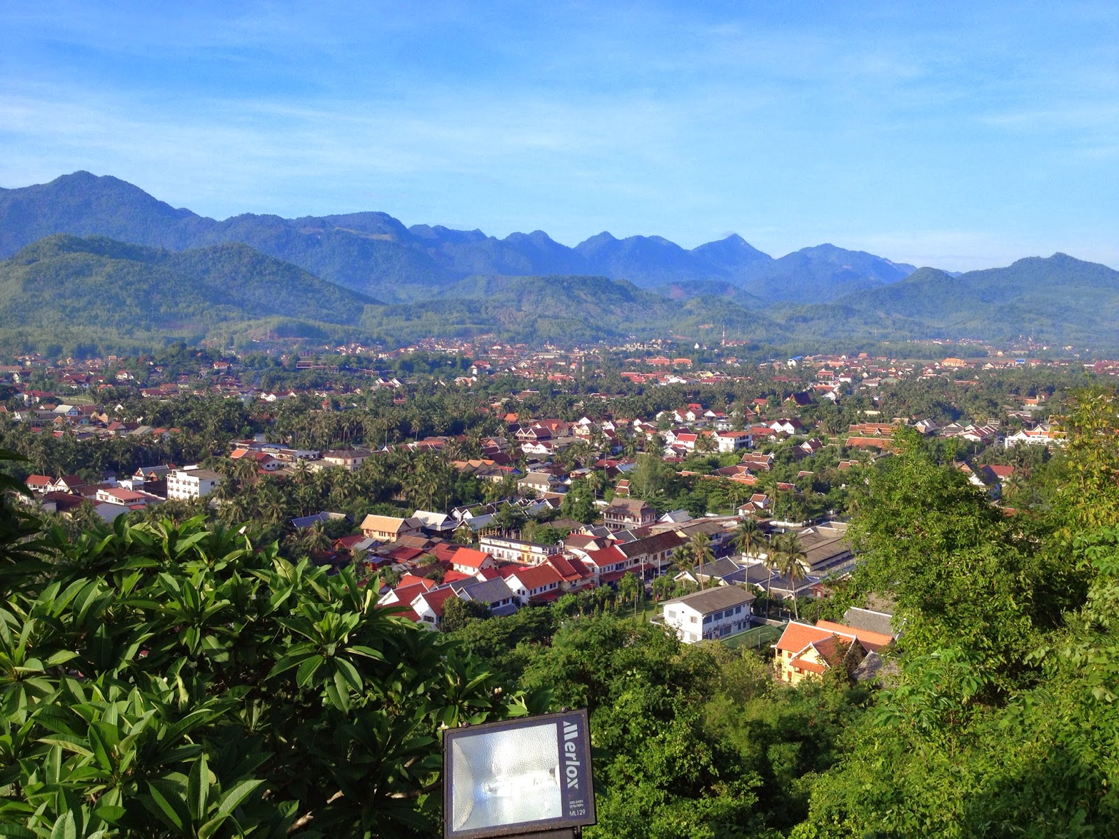 Luang Prabang - 360 degree view from the top of Phousi Hill