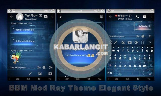 BBM Mod Thema Roline RAY Versi Terbaru 2.10.0.35 Elegant Style