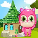 Games4King Cute Pink Kitty Rescue Walkthrough