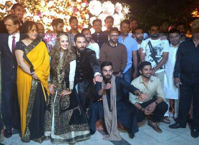 Virat Kohli's Team India Adds Glamour To Yuvraj-Hazel Wedding