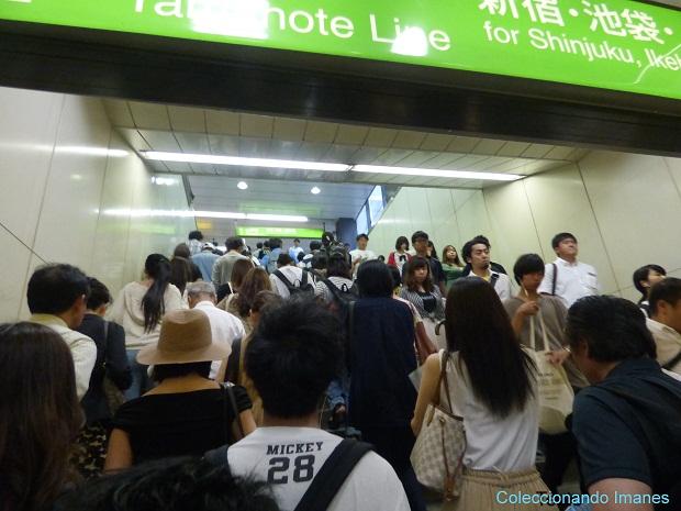 Estacion de Ikebukuro a rebosar
