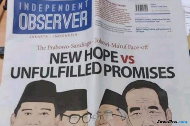 Ramai di Twitter, Ini Penjelasan Koran Independent Observer