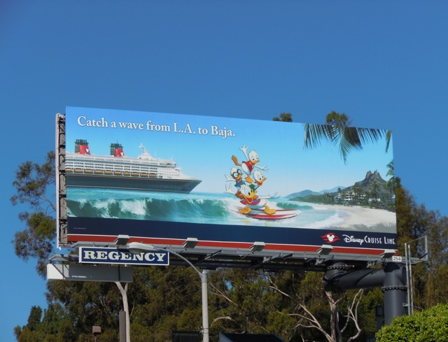Disney Baja cruise billboard