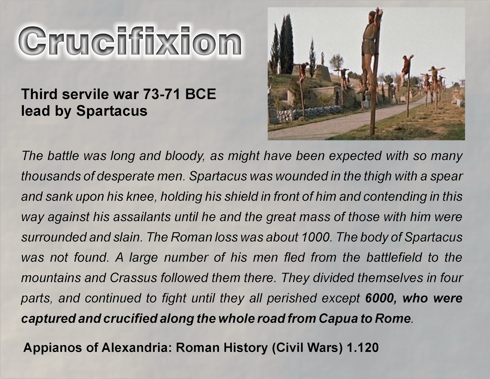 History Of Rome And The Servile Wars Homework Example