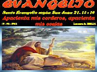 Resultado de imagen para Habiéndose aparecido Jesús a sus discípulos, después de comer con ellos,
