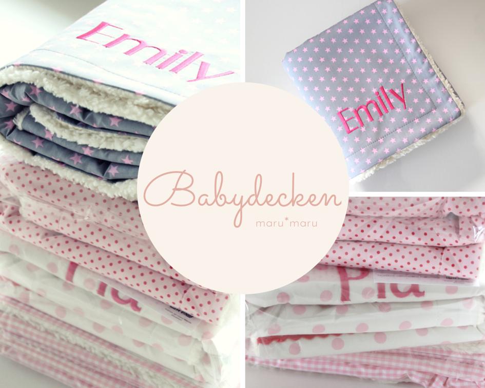 personalisierte Babydecken