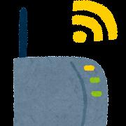 Wi-Fi無線ルーターのイラスト