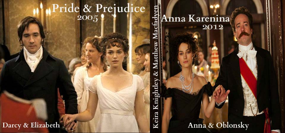 Reunited: Pride & Prejudice stars Keira Knightley & Matthew Macfadyen in Anna Karenina