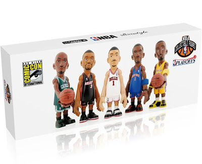 San Diego Comic-Con 2011 Exclusive CoolRain x MINDstyle NBA Playoffs Mini Figure Box Set Packaging
