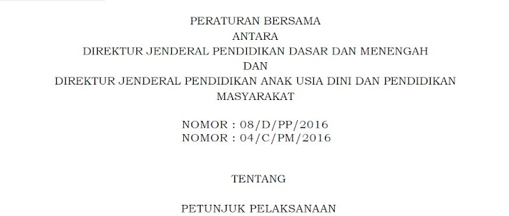 Juknis Pelaksanaan Program Indonesia Pintar (PIP) Tahun 2016