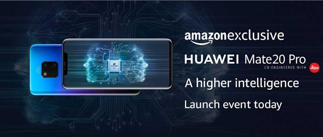 Huawei का नया स्मार्ट फ़ोन Huawei Mate 20 Pro - 6GB RAM सिर्फ Amazon Exclusive